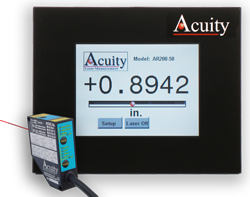 Touch Panel Display for use with Acuity distance sensors