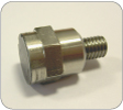Miniature acoustic emission sensor for grinding gap crash control